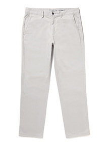Light Grey Straight Fit Chinos With Stretch