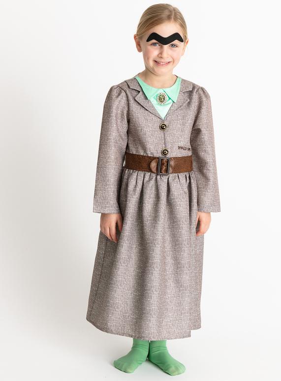 29a6b9ef295a Fancy Dress Roald Dahl Miss Trunchbull Brown Costume (3-12 years ...