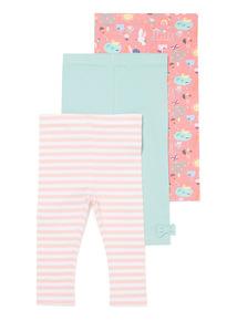 3 Pack Multicoloured Leggings (0-24 months)