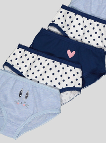 Bunny & Polka Dot Print Briefs 10 Pack (18 months-12 years)