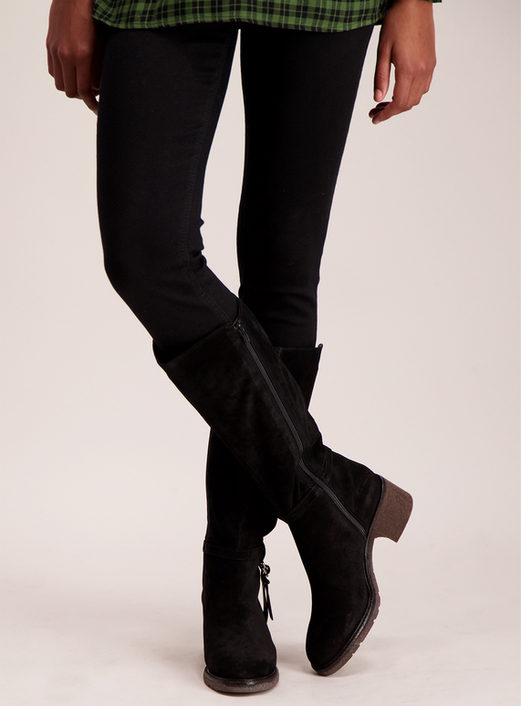 983dfea31 Womens Online Exclusive Sole Comfort Black Suede Knee-High Boots   Tu  clothing