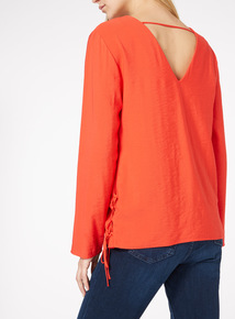 V-Back Long-Sleeve Top