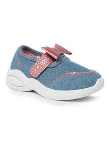 Blue Denim Bow Shoe
