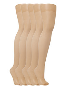 Natural 15 Denier Tights 5 Pack