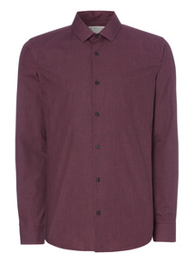 Dark Red Checked Party Shirt