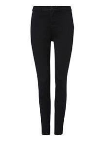PETITE Black High Waist Skinny Jeans