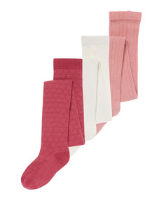 Multicoloured Cotton Rich Tights 3 Pack