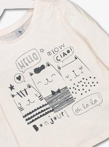 White Kitty Cat T-Shirt (9 months - 6 years)
