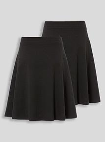 Black 2 Pack Skater Skirt (10-16 years)