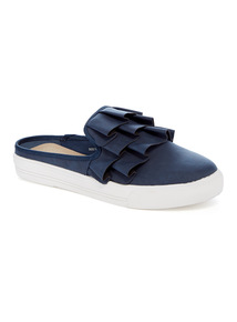Online Exclusive Navy Ruffle Mule