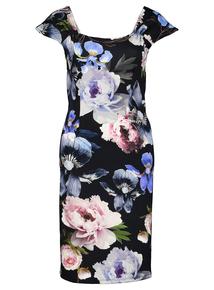 Multicoloured Floral Print Scuba Dress