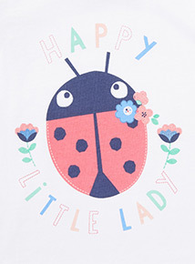 Grey 'Happy Little Lady' Print T-Shirt (0-24 months)