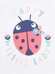 Grey 'Happy Little Lady' Print T-Shirt (0-24 months)