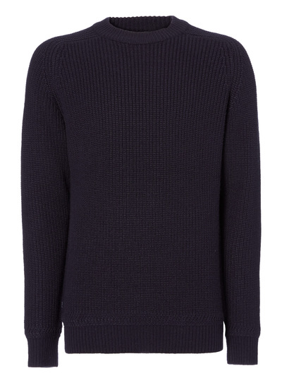 Navy Crew Knitted Jumper