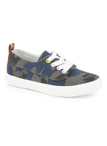 Camouflage Lace-Up Trainers