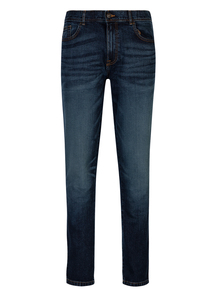 Blue Mid Wash Stretch Denim Skinny Jeans