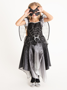 Halloween Black And Silver Cobweb Fairy (3-12 years)