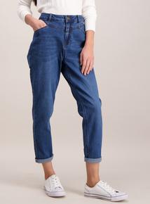 Online Exclusive Yoke Detail Mom Jeans