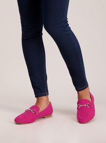 Sole Comfort Pink Buckle Loafers