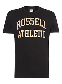 Russell Athletic Black Logo Tee