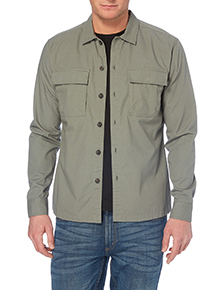 Khaki Long Sleeve Overshirt