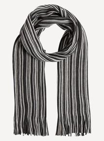Monochrome Striped Scarf