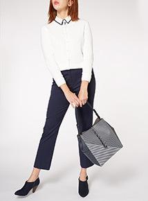 Navy Stripe Shoulder Bag