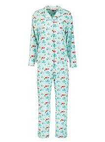 Christmas Multicoloured Caravan Print Pyjamas