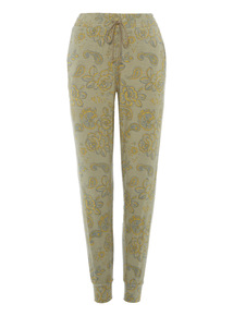 Green Paisley Drapey Trousers