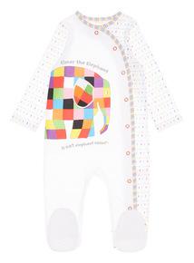 White Elmer Sleepsuit (0-12 months)
