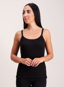 Black 'Heat Active' Thermal Pointelle Camisole