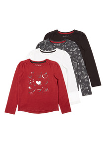 4 Pack Multicoloured Winter Berry Tees (9 months-6 years)