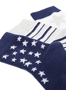 3 Pack Navy Star Socks (0-24 months)