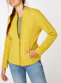 Online Exclusive Yellow Zip Up Fleece