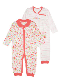 Pink Tropical Flamingo Sleepsuits 2 Pack (0 - 24 months)
