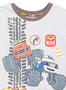 Grey 'Blaze And The Monster Machines' Print T-Shirt (9 months-6 years)