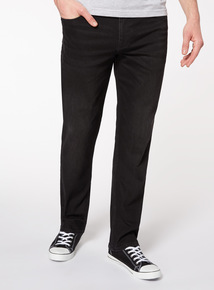 Online Exclusive Black Bootcut Jeans With Stretch