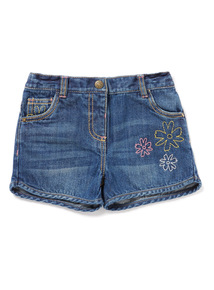Denim Embellished Shorts (9 months-6 years)