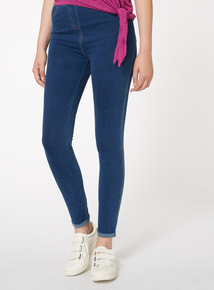 Navy Mid Wash Jeggings