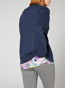 Online Exclusive Russell Athletic Floral Logo Sweat