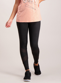 Black Foil Detail Leggings