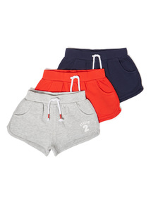 3 Pack Multicoloured Casual Shorts (3-14 years)