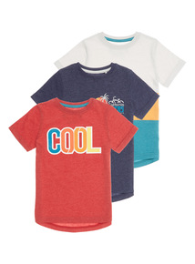 Multicoloured Cool T-shirts 3 Pack (3 - 12 years)