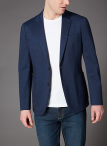Navy Jersey Jacket