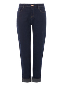 Dark Denim Girlfriend Stretch Jeans