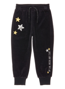 Black Velour Joggers (3-14 years)