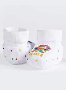 Elmer White Booties (0-24 Months)