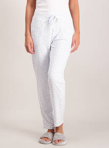 Cream Ditsy Print Pyjama Bottoms