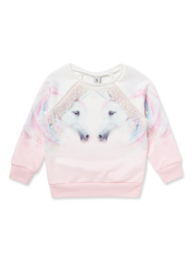 Multicoloured Unicorn Sweatshirt (3-14 years)