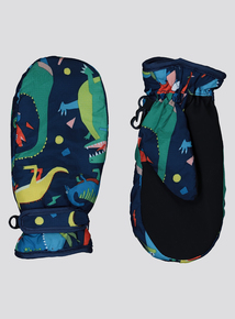 Multicoloured Dinosaur Snow Gloves (1-6 Years)